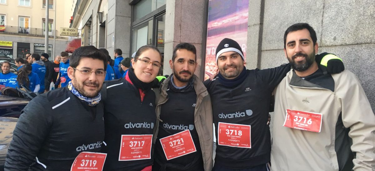 "Running in the 18th edition of ""Carrera de las Empresas"""